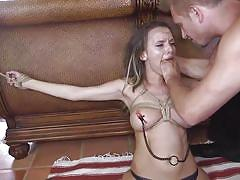 Busty wife gets brutally punished