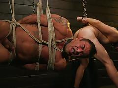 Unforgettable threesome with kinky rope bondage