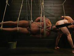 bdsm, torture, handjob, sex slave, whipping, rope bondage, threesome, domination, suspended, electric wand, bound gods, kink men, sebastian keys, mason lear, draven navarro