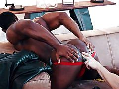 Jacob peterson licks his ebony lover's ass