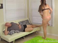 Big booty sister madisin lee wrestles then fucks step brother