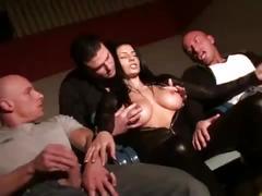 Italian pornstar sofia gucci handles a group of horny cocks