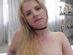 facesitting, blonde, babe, casting, big cock, pussy licking, fingering, pov, rocco siffredi, fame digital, rocco siffredi, jade r