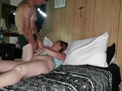 Milf sucks my cock,i give her a good,quick fuckin