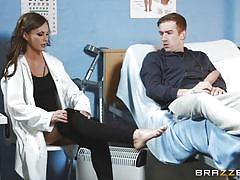hospital, doctor, blowjob, huge cock, brunette, from behind, doctor adventures, brazzers, danny d, tina kay
