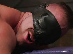 Anal pegging after hardcore gay bdsm session