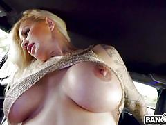 Sultry orgy in the limo