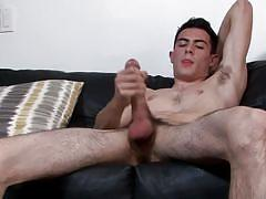 Sexy army guy jerks off meaty cock for your pleasure
