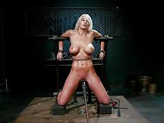 milf, blonde, bdsm, lesbians, whipping, bound, big boobs, flexible, vibrator, lezdom, pussy rubbing, chains, device bondage, whipped ass, kink, aiden starr, london river