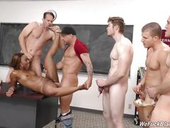 Black girl chanell gangbanged by many white boys