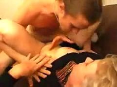 Granny fucks her younger boss