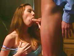 ass-fuck, ass, anal, brunette, couple, cop, seduced, uniforms, blowjob, pussy-eating, shaved, big-tits, fake-tits, doggystyle, redhead