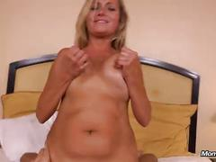 Hot busty milf does first porn for mompov
