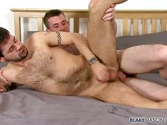 Hairy studs myles andrews and patrick hill fucking