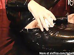fetish, amateur, sicflics.com, candle, insertion, object, bondage, bdsm, wax, fire, toy, dildo, slave, solo, pvc, latex, masturbation