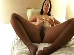 Suntan pantyhose showx