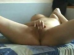 On my bed fingering
