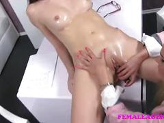 Femaleagent oiled up slim beauty in sexually charged casting
