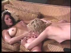 Lesbian threesome on the beach