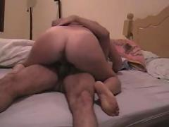 Chubby wife tries to ride