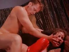 Red girl banged in the ass
