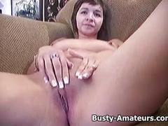 Busty vanessa striptease and masturbation scene