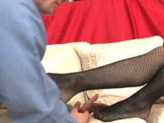 fetish, toes, legs, footjob, feet, fishnets, stockings, garter