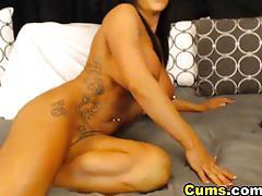 Huge tiits camgirl double dildo masturbation