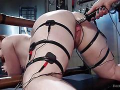 milf, bdsm, latex, lesbians, redhead, domination, fetish, electro, big breasts, mouth gag, device bondage, electro sluts, kink, mistress kara, barbary rose