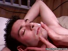Erotic massage turned nasty handjob