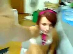 Very hot emo babe does webcam show part 3