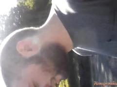 Fucking the hairy beast in the forest