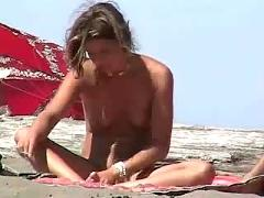 Nudist beach video