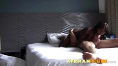 Ebony good morning blowjob