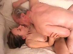 Old man fucks his grandson's girlfriend