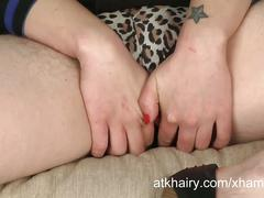 Riki rocket fucks her hairy asshole and pussy with toys