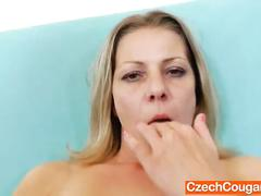 Perfect milf in addition to a plastic cock
