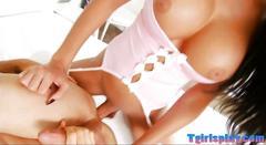 Big tits tgirl kimberlee anal pounding with pervert man