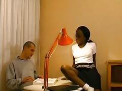 Black amateur does anal