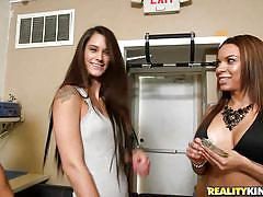 threesome, money talks, reality, blowjob, undressing, pov, busty babe, sex for money, tits flash, money talks, reality kings, tyler michaels, austin cole, dylan daniels
