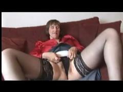 hairy, matures, stockings