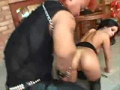Hot brunette midget fucked