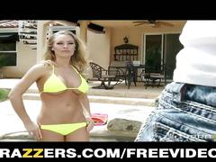 Nicole aniston fucks her lucky poolboy
