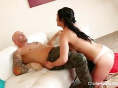 Naturally busty charley chase gets fucked in the ass