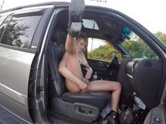 Milf nude in public side of highway dildo fun