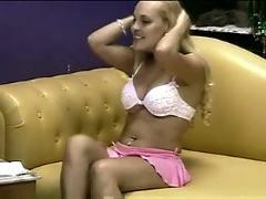 Blonde,  tan,  solo,  teasing,