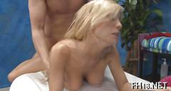 Reaching an intense orgasm during the massage