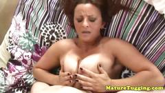 Busty mature milf squirted with cum as she works it