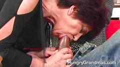 Older lady wants to gag on a dick