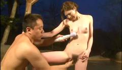 Massage machine used in open-air bath(censored +)